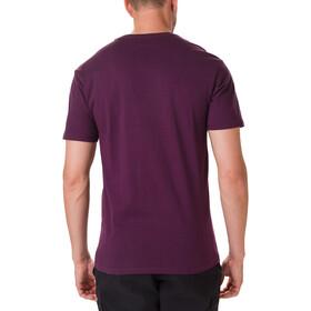Columbia Muir Pass Camiseta Manga Corta Hombre, black cherry/buffalo camo